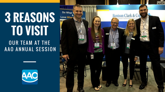 Visit Bentson Copple at the AAO Annual Session