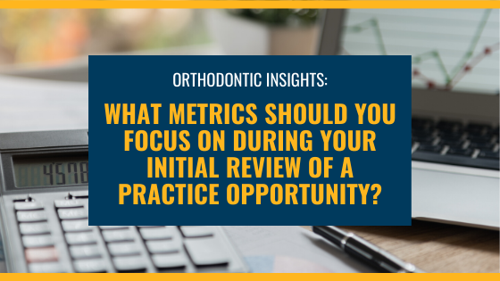 What metrics should you focus on during your initial review of a practice opportunity?