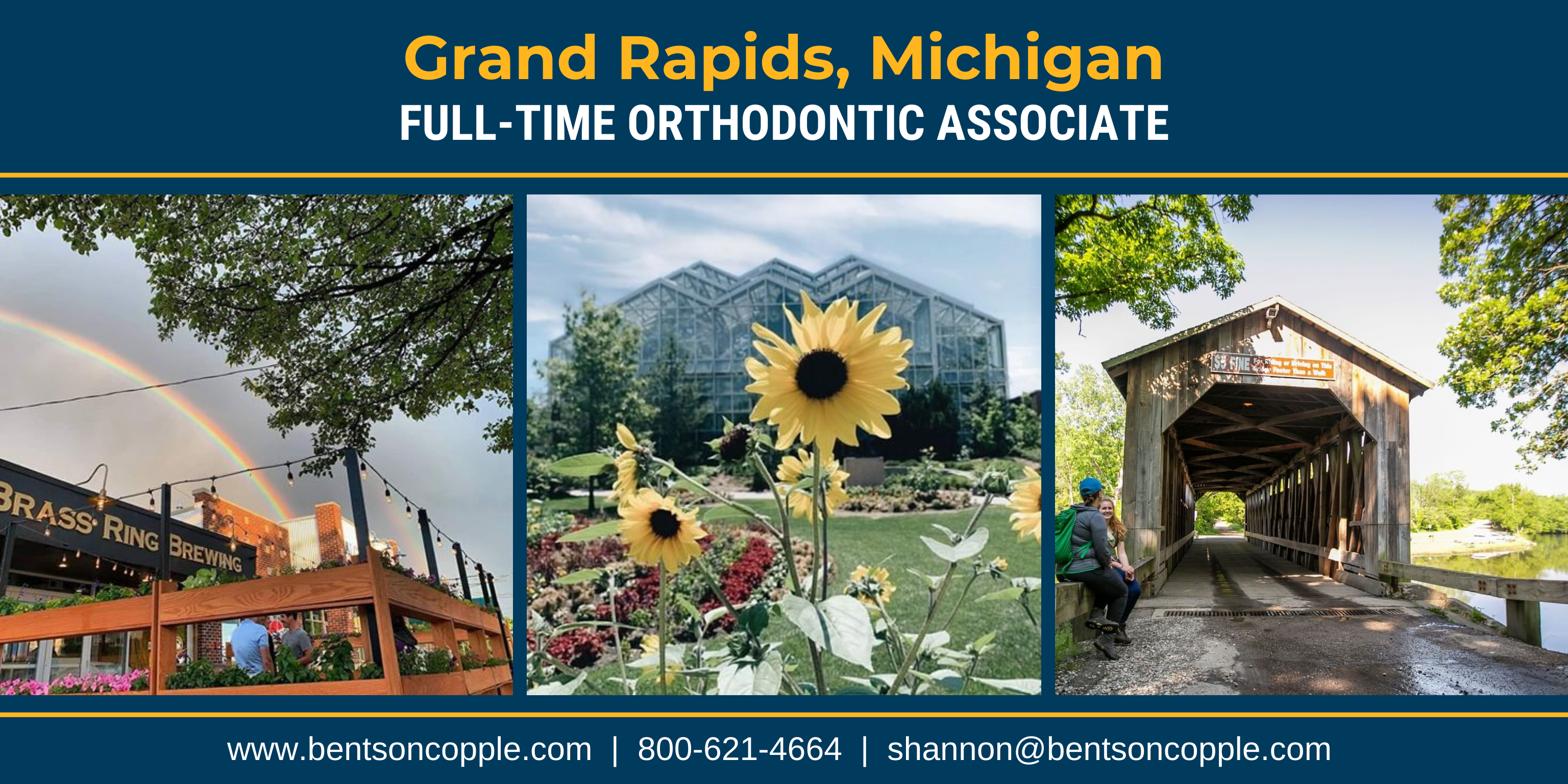 Seeking a full-time orthodontic associate in Grand Rapids, Michigan