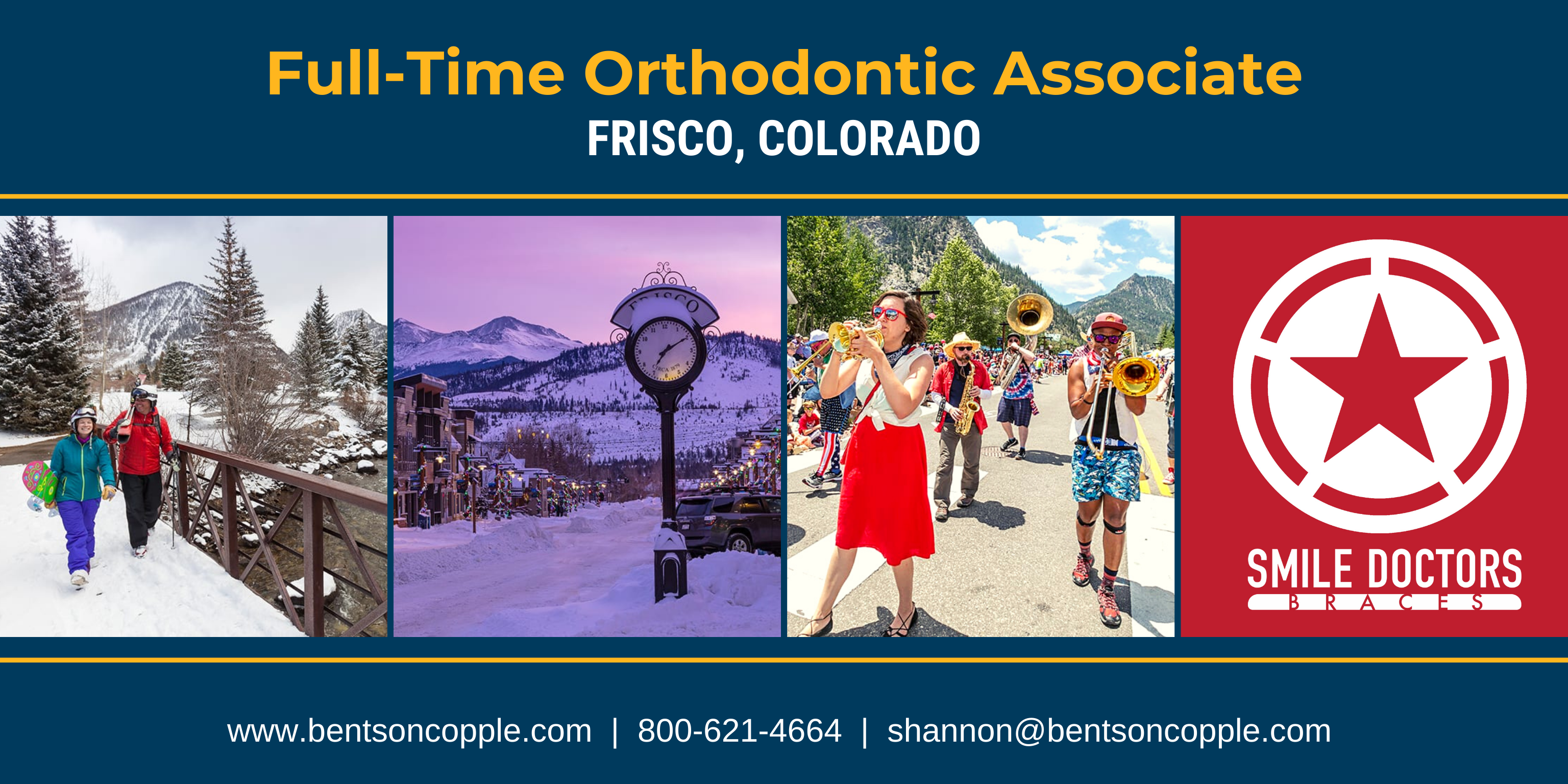 Orthodontic Associate Needed in Frisco, Colorado