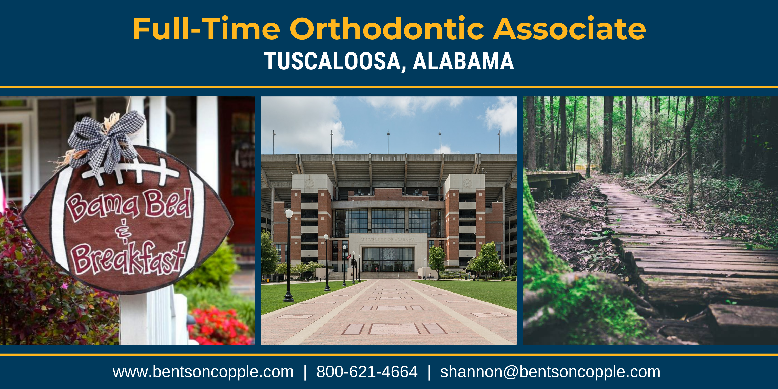 Full-Time Orthodontic Associate Needed in Tuscaloosa, Alabama