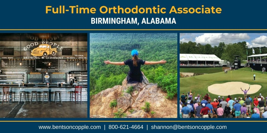 Full-time orthodontic associate career opportunity in Birmingham, Alabama