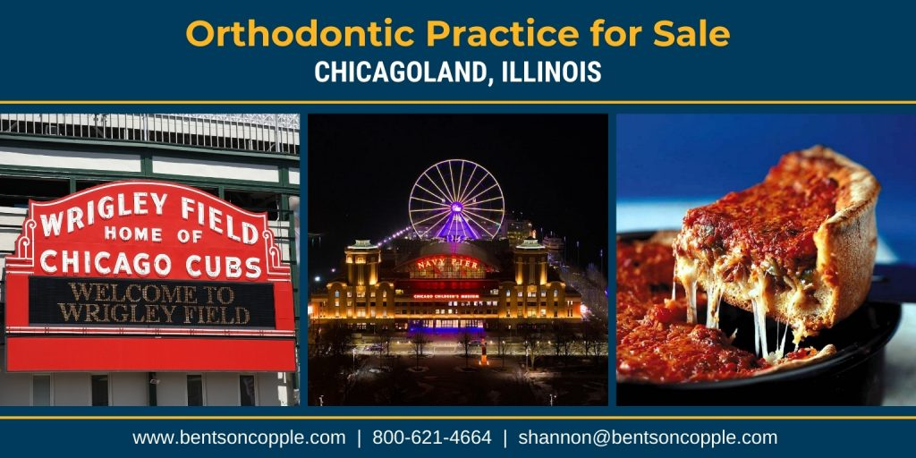 A thriving orthodontic practice location in the Chicagoland area is for sale.