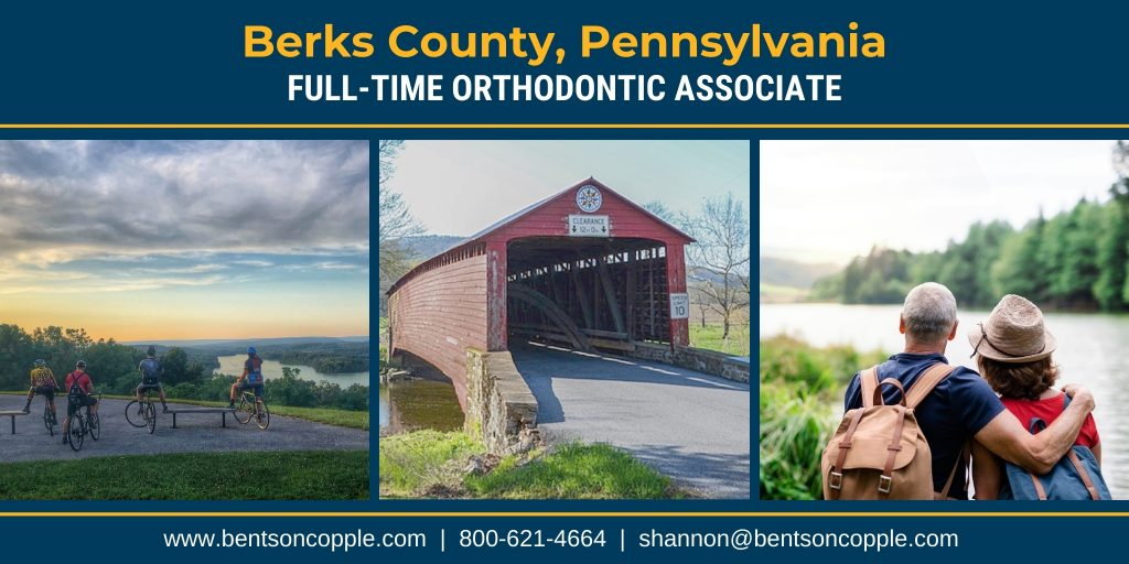 Full-time orthodontic career opportunity in east-central Pennsylvania.