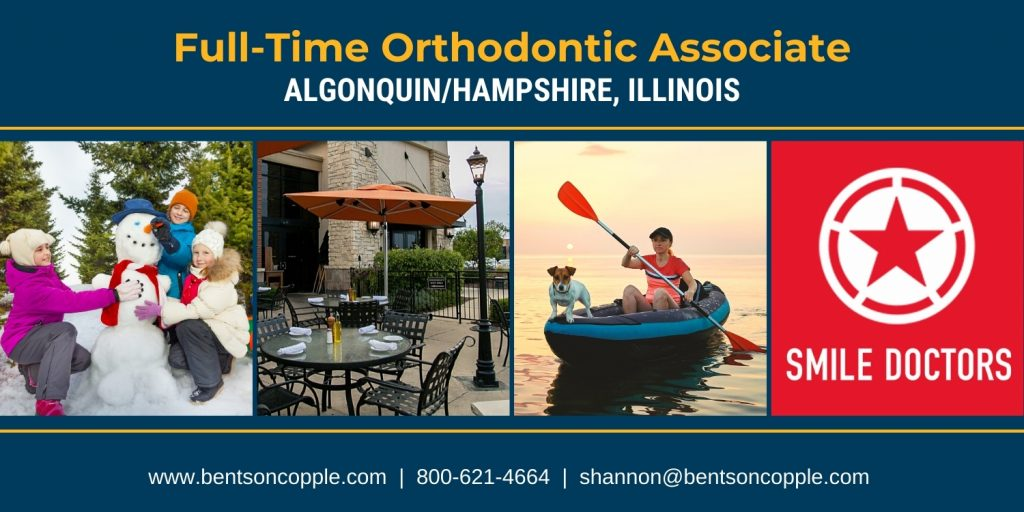 Full-time orthodontic career opportunity in the Village of Algonquin and Village of Hampshire area