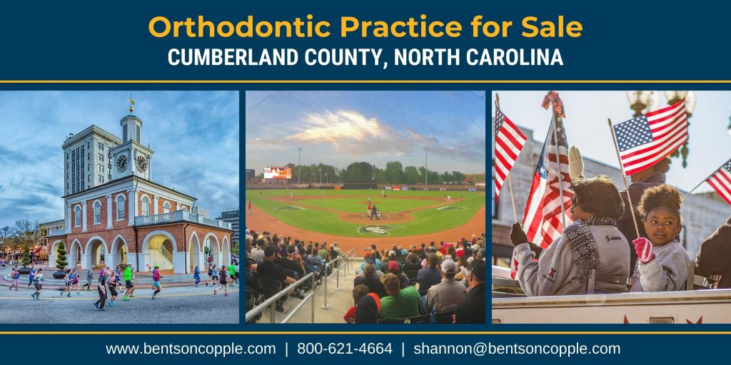 A private, well-established orthodontic practice located in Cumberland County, North Carolina is currently for sale.