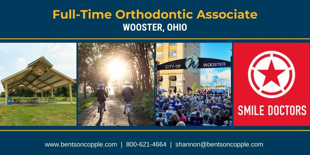 Full-time orthodontic career opportunity in a a growing community in northeastern Ohio