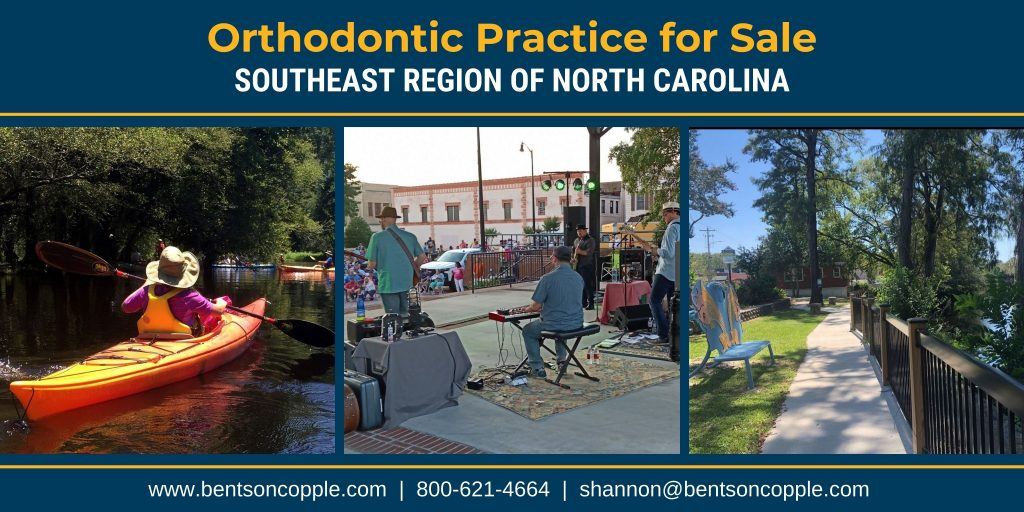 A private, well-established orthodontic practice located in the southeast region of North Carolina is for sale.