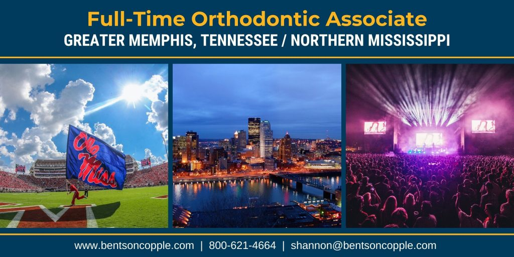 A well-established orthodontic practice opportunity located in Greater Memphis, Tennessee / Northern Mississippi area with multiple locations is seeking an orthodontic associate.