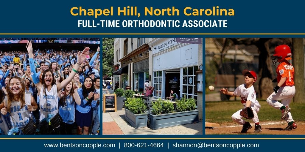 "A growing orthodontic practice focused on using ""State of the Art Technology"" is looking for an associate to join their team in Chapel Hill, North Carolina"