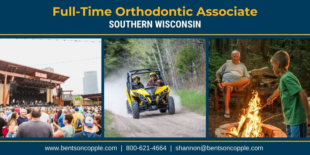 A well-established orthodontic practice located in Southern Wisconsin is seeking a motivated full-time orthodontist to join their team.