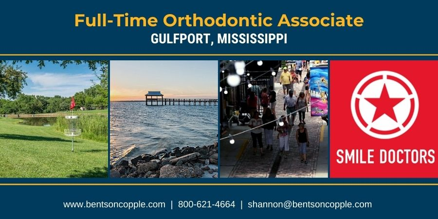 Smile Doctors is seeking a full-time orthodontist to join their team in Gulfport, Mississippi.