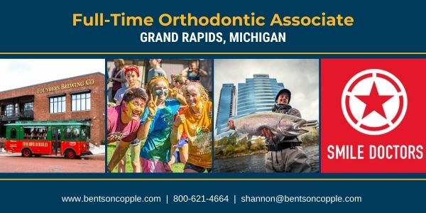 Smile Doctors is seeking a full-time orthodontist to join their team in Grand Rapids, Michigan.