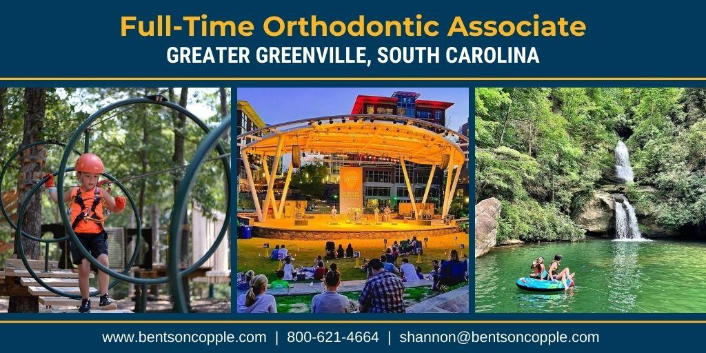 A well-established, multi-location, private practice located in the Greater Greenville, South Carolina area is seeking an orthodontic associate.
