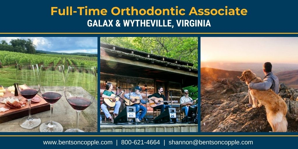 A private orthodontic practice with locations in Galax and Wytheville, Virginia is seeking an associate to join their amazing team.