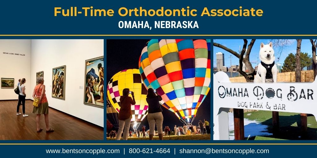 A private, well-established orthodontic practice in Omaha, Nebraska is seeking to add an associate doctor to their amazing team.