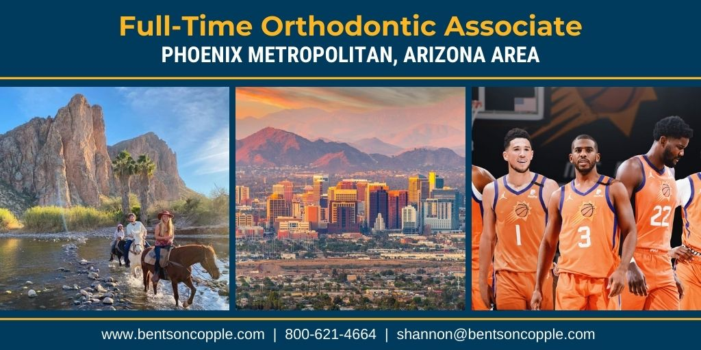 A state-of-the-art private orthodontic practice located in the Phoenix Metropolitan Area is seeking a full-time associate to join their team!.
