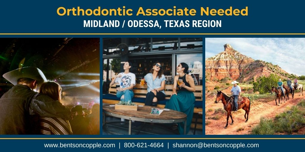 busy, multi-location orthodontic practice, focused on the highest quality of orthodontic care located in the Greater Midland / Odessa, Texas area is looking to add an associate to their team.